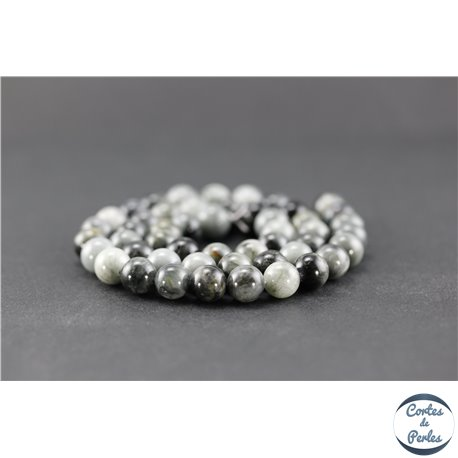 Perles en oeil d'aigle - Ronde/8 mm