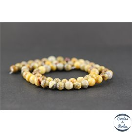 Perles en agate crazy - Ronde/6 mm