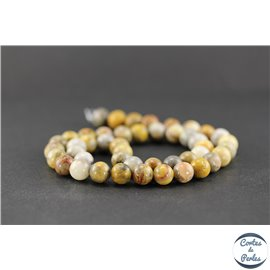 Perles en agate crazy - Rondes/8mm