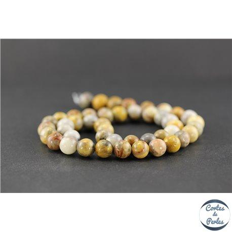 Perles en agate crazy - Ronde/8 mm