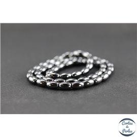 Perles en hématite synthétique - Grain de riz/5 mm