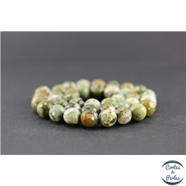 Perles facettées en jaspe rhyolite - Rondes/10 mm