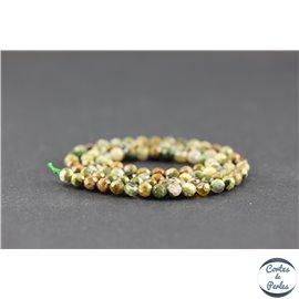 Perles facettées en jaspe rhyolite - Rondes/4 mm