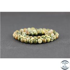 Perles facettées en jaspe rhyolite - Rondes/6 mm