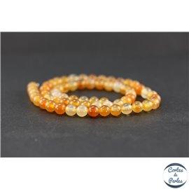 Perles en agate cornaline - Rondes/6 mm
