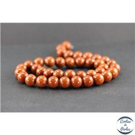 Perles en jaspe rouge - Rondes/10 mm - Grade A
