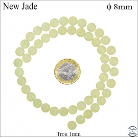 Perles en new jade - Rondes/8mm