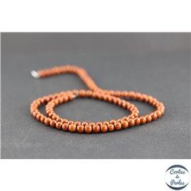 Perles en jaspe rouge - Rondes/4 mm - Grade A
