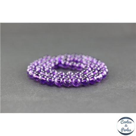 Perles en améthyste - Rondes/6 mm - Grade AA+