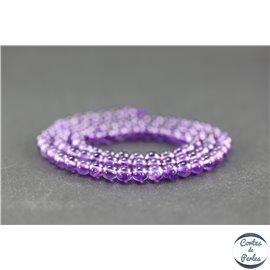 Perles en améthyste - Rondes/4 mm - Grade AA+