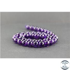 Perles en améthyste - Rondes/10 mm - Améthyste dark - Grade AA+