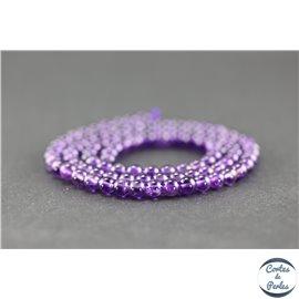 Perles en améthyste - Rondes/4 mm - Améthyste dark - Grade AA+