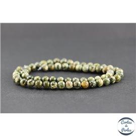 Perles en jaspe rhyolite - Rondes/6 mm