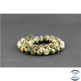 Perles facettées en jaspe rhyolite - Pépites/8 mm