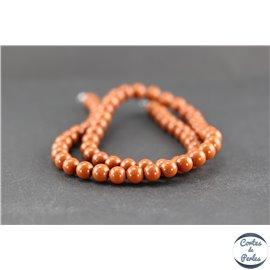 Perles en jaspe rouge - Rondes/6 mm - Grade A