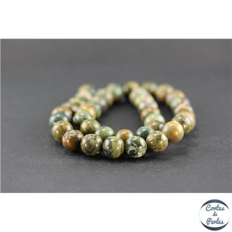 Perles en jaspe rhyolite - Rondes/10 mm