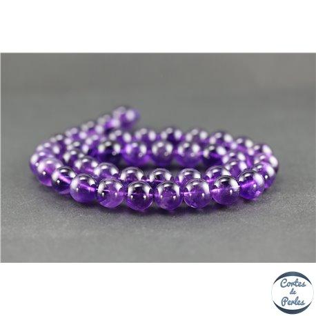 Perles en améthyste - Rondes/10 mm - Grade AA+