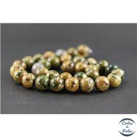 Perles en jaspe rhyolite - Rondes/12 mm