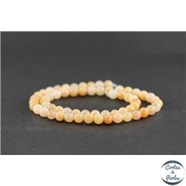 Perles en aventurine rose - Rondes/6 mm