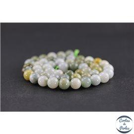 Perles en jadéite - Rondes/8 mm