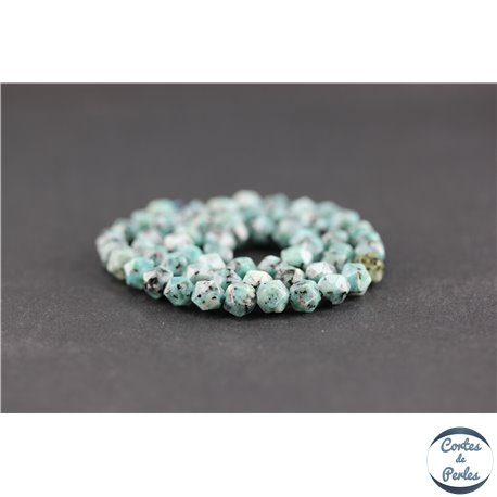 Perles facettées en jaspe sésame - Pépites/6 mm