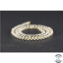 Perles en citrine - Rondes/4 mm