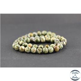 Perles en jaspe rhyolite - Rondes/8mm