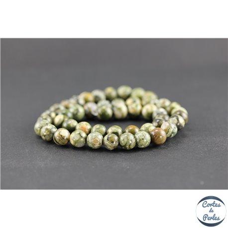 Perles en jaspe rhyolite - Rondes/8 mm