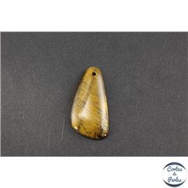 Lot de 5 pendentifs en oeil de tigre - Gouttes/40 mm