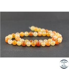 Perles en cornaline - Rondes/8mm