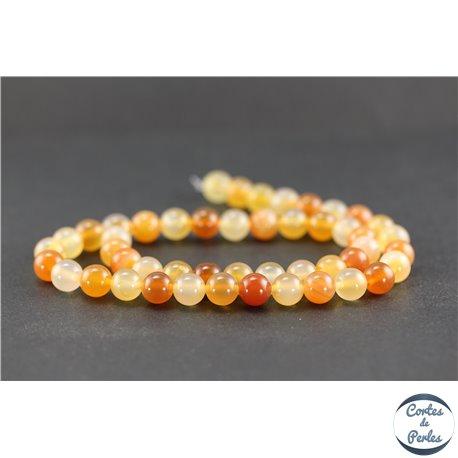 Perles en agate cornaline - Rondes/8 mm