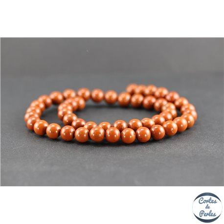 Perles en jaspe rouge - Rondes/8 mm - Grade A