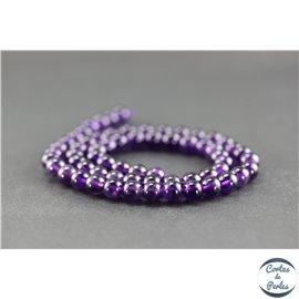Perles en améthyste - Rondes/6 mm - Améthyste dark - Grade AA+