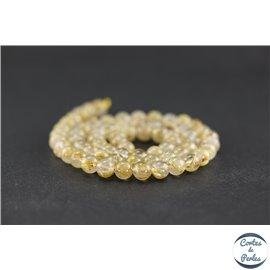 Perles en quartz rutile doré - Rondes/6mm - Grade AA