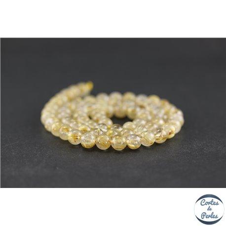 Perles en quartz rutile - Rondes/6 mm - Grade AA