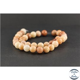 Perles semi précieuses en pink aventurine - Rondes/12 mm - Rose