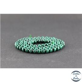 Perles en malachite - Rondes/4mm - Grade A