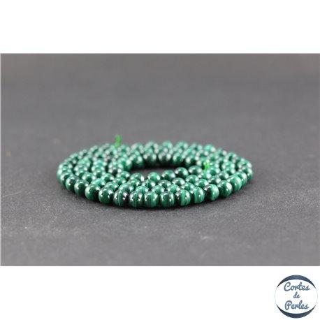Perles semi précieuses en malachite - Rondes/4 mm - Grade A