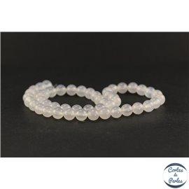 Perles en agate blanche - Rondes/8mm