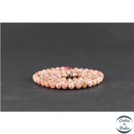 Perles semi précieuses en rhodochrosite - Ronde/4 mm - Grade A
