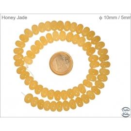 Perles semi précieuses en honey jade - Roues/10 mm
