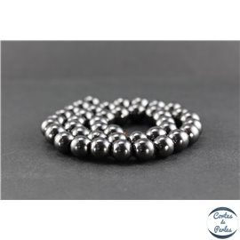 Perles en hématite synthétique - Rondes/10 mm - Grade AA