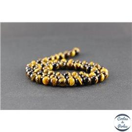 Perles en oeil de tigre - Rondes/6 mm - Grade AAA