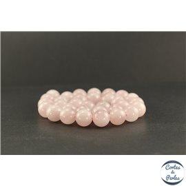 Perles en quartz rose de Madagascar - Rondes/12 mm - Grade AB