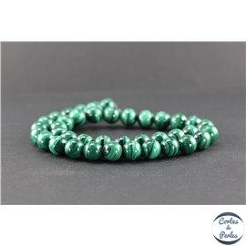 Perles en malachite - Rondes/10mm - Grade AB