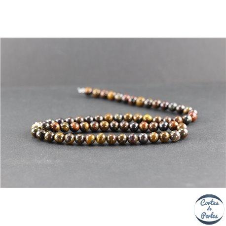 Perles en oeil de fer - Rondes/6 mm - Grade A