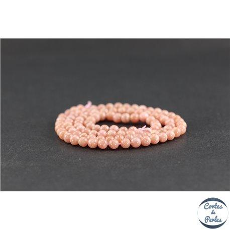 Perles en rhodochrosite d'Argentine - Rondes/4 mm - Grade AA