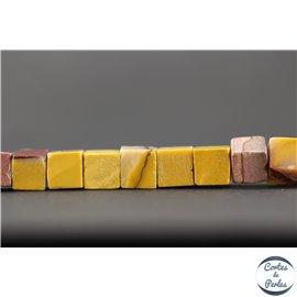 Perles semi précieuses en Jaspe - Cube/8 mm - Multicolore