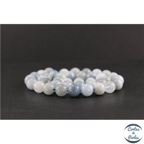 Perles en aigue-marine - Rondes/10 mm - Grade AB