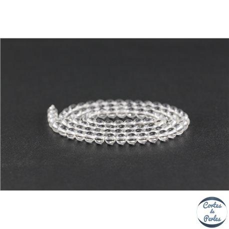 Perles en cristal de roche - Rondes/4 mm - Grade A